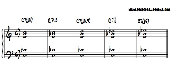 Piano chords notation